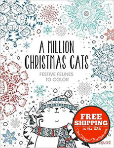 New A Million Christmas Cats: Festive Felines To Color By John Bigwood - Christmas/winter Themed Items