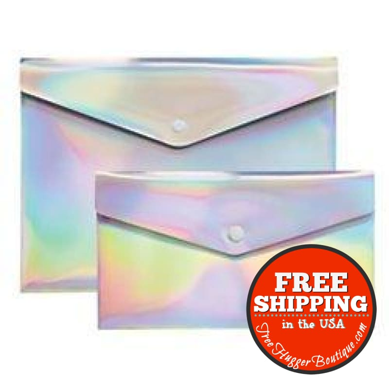 New Divoga(R) Poly Snap Letter And Check Envelopes 9 1/16In. X 12 1/4In. Rainbow Foil Pack Of 2 - Adult Books