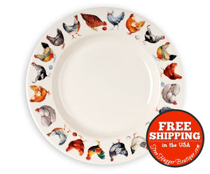 New Emma Bridgewater Hen And Toast 10.5In Dinner Plate - Home Decor
