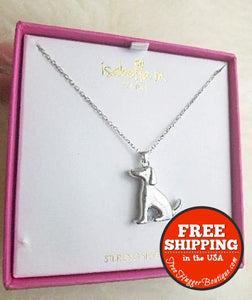 New Isabella M. Sterling Silver 16 Chain With Silver Dog Pendant - Necklace