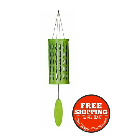 New Aloha 28 Inch Wind Chime By Windstock Chimes In Lime - Ecofriendly Home Decor