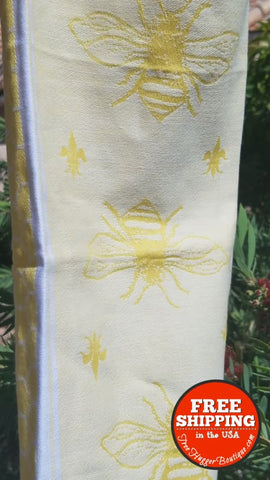 New Sur La Table Yellow Bee Kitchen Tea Towel - Home Decor