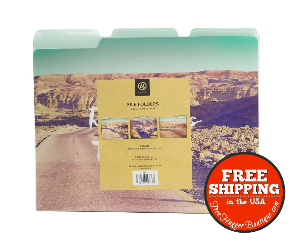 New U Brands Desert Landscapes File Folders (6/count) 11.5 X 9.5 - Office Supplies