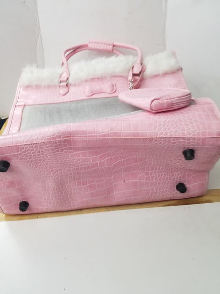 Pet Carrier Pink Purse Like For Small Dog Or Cat - Pet Supplies