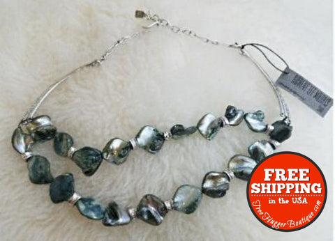 Robert Lee Morris Shell Silver Plated Necklace (One Strand Of Beads Is Missing) - Fine Jewelry