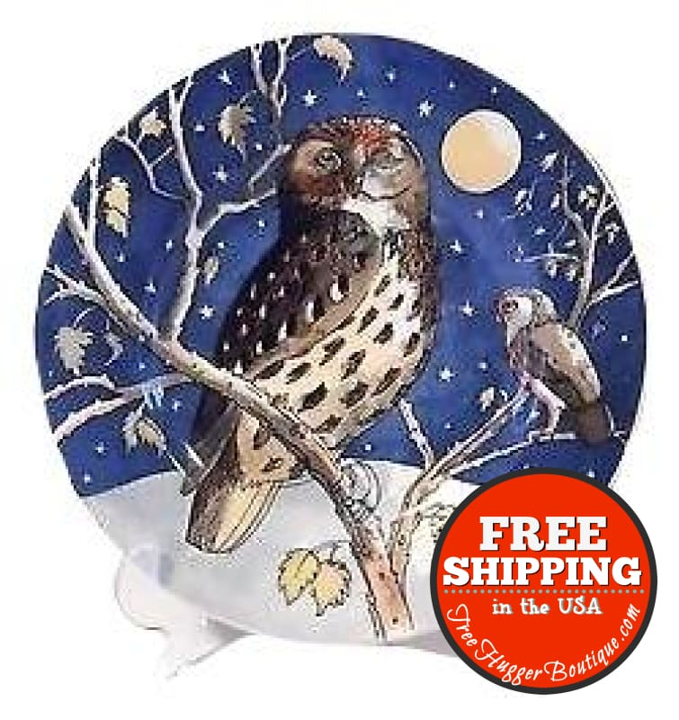 NEW Emma Bridgewater Owls 8.5in Side Plate/Salad/Dessert Plate - Home Decor