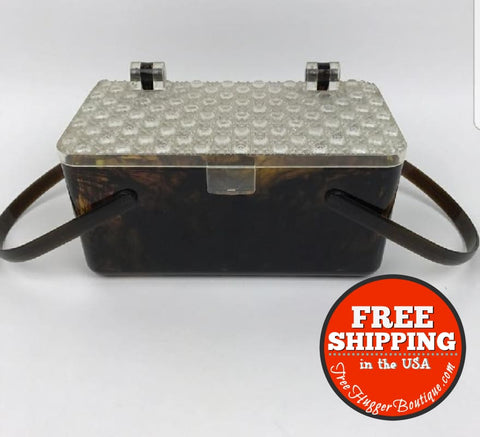 Vintage Merle Norman Lucite Hard Purse Box/handbag Mid Century - Vintage Purse