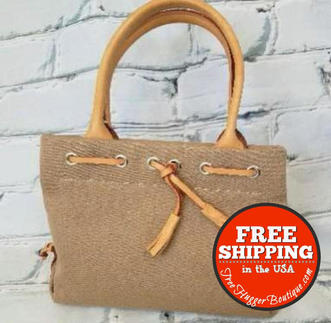 Vintage Tan Dooney & Bourke Handbag Satchel - Vintage Purse