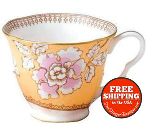 Wedgewood Butterfly Bloom Porcelain Cup Bone China Floral Bouquet - Collectibles