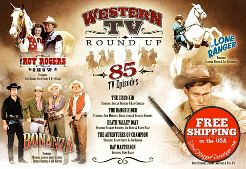 Western Tv Round Up 85 Tv Episodes Dvd Box Set - The Roy Rogers Shows The Cisco Kid Death Valley Days The Adventures Of Champion Rat Mes -