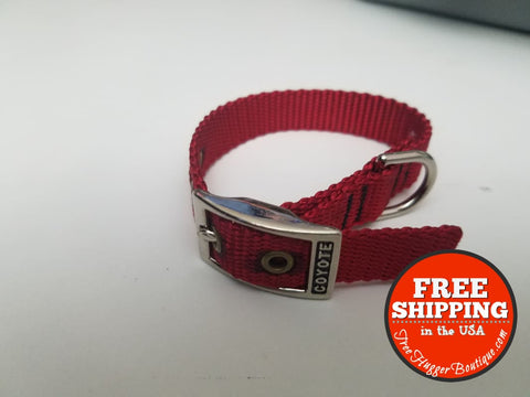 Xs/small Quality Dog Collar By Coyote 11.5In Red - Pet Supplies