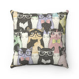 "Smarty Cats 14"" Square Pillow"