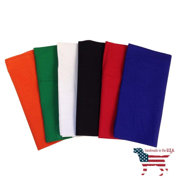 27 Sq Blank Big Dog Bandanas Dozen / Assorted Colors Clothing & Accessories
