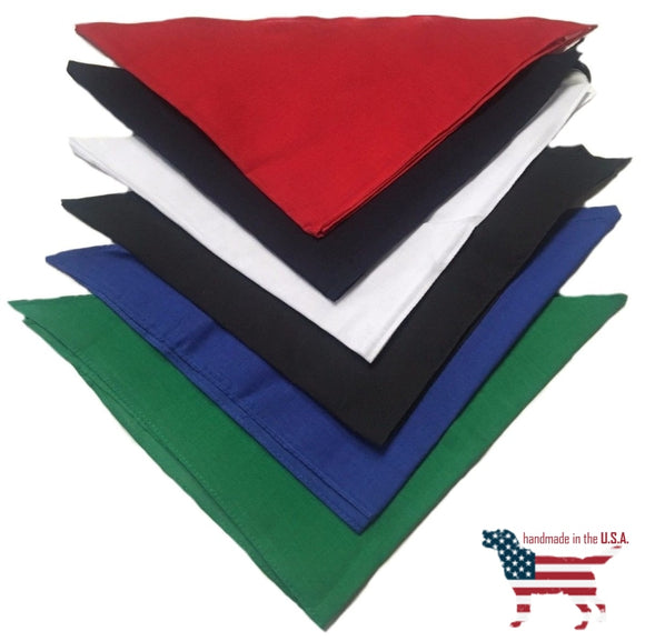 30 Blank Big Dog Bandanas Dozen / Assorted Colors Clothing & Accessories