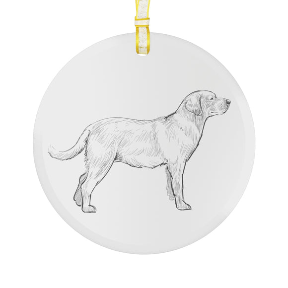 Labrador Retriever Glass Ornament