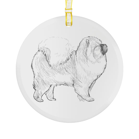 Chow Chow Glass Ornament