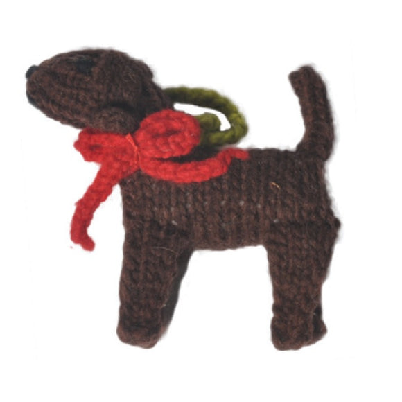 Chocolate Labrador Retriever Handmade Ornament