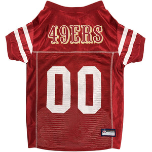 San Francisco 49Ers Pet Jersey Extra Small / Blank Nfl