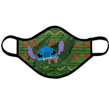 Stitch-inspired Holiday Face Mask