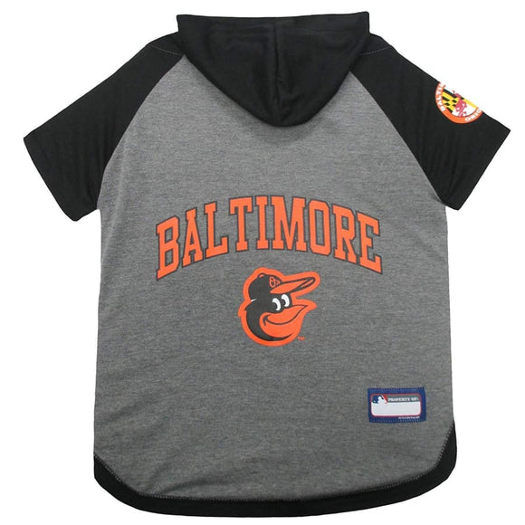 Baltimore Orioles Lightweight Pet Hoodie Extra Small / Blank Mlb