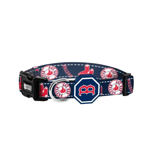 Boston Red Sox MLB Licensed Dog Cat Collar Fresh Pawz 3 Red Rovers