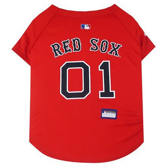 Boston Red Sox Pet Jersey Extra Small / Blank Mlb
