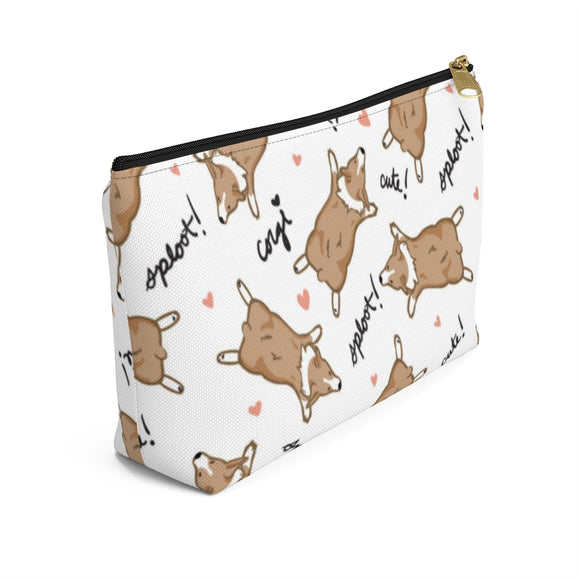 Corgi Sploot Accessory Pouch w T-bottom