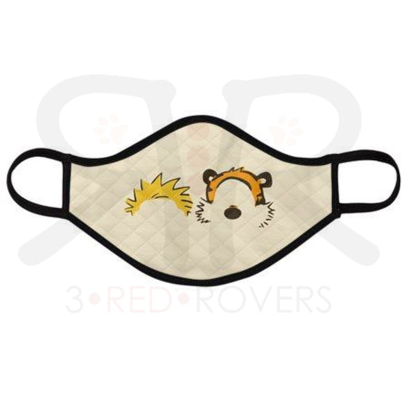 Calvin And Hobbes Minimalist Face Mask