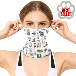 Calvin And Hobbes Sketch Face Gaiter Mask
