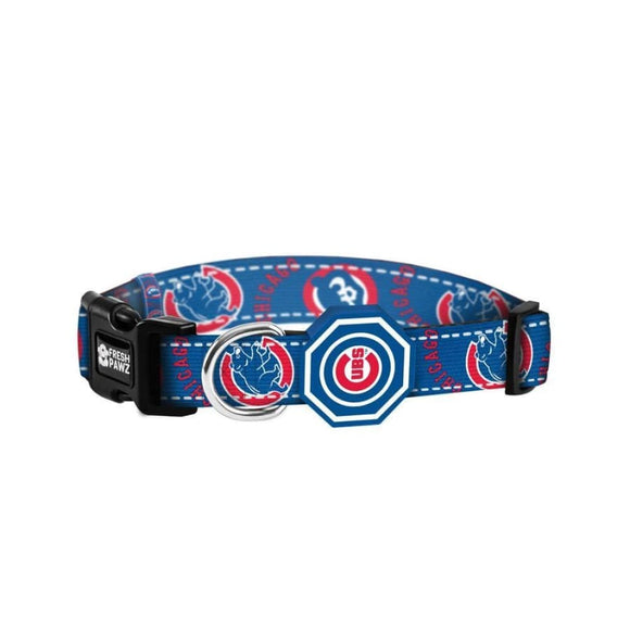 Chicago Cubs NFL Licensed Collar Fresh Pawz 3 Red Rovers