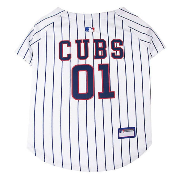 Chicago Cubs Pet Jersey Extra Small / Blank Mlb