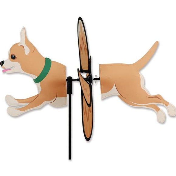 Chihuahua Petite Garden Spinner - Multiple Colors Tan Home Life