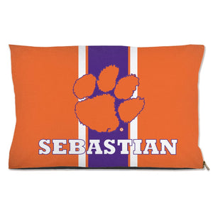 Clemson Tigers Handmade Pet Bed Water Resistant / 18X28 Inch Ncaa