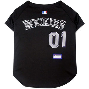 Co Rockies Pet Jersey Extra Small / Blank Mlb