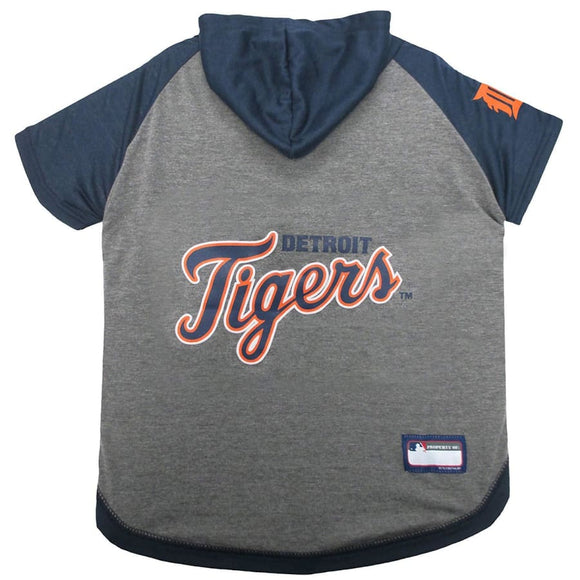 Detroit Tigers Lightweight Pet Hoodie Extra Small / Blank Mlb