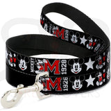 Disney Mickey 1928 Collar And Leash Narrow / 4 Feet Long Collars