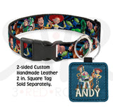 Disney Toy Story Character Faces Collar And Leash Collars