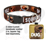 Disney Up Dug Squirrel Collar And Leash Collars