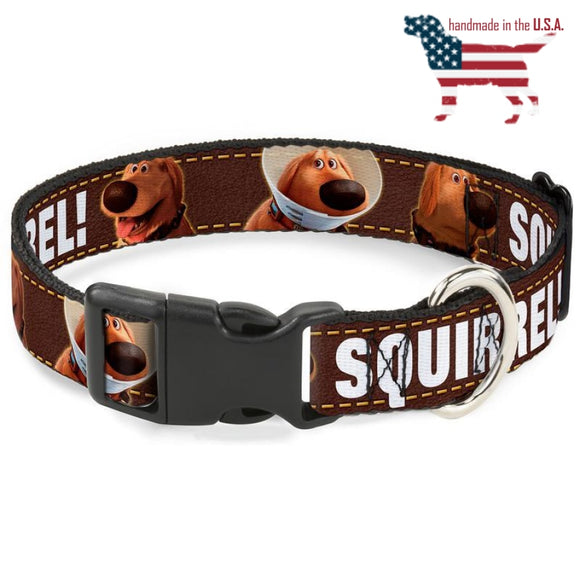 Disney Up Dug Squirrel Collar And Leash Narrow / Small Collars