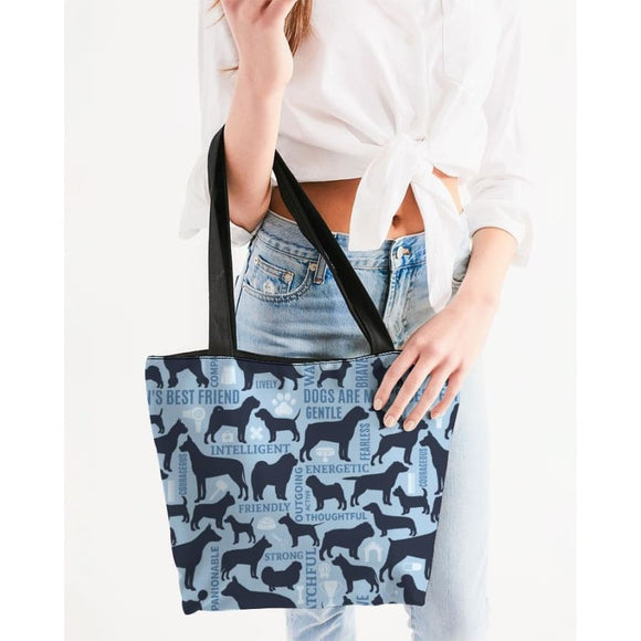 Dog Bff Canvas Zip Tote Bags And Travel