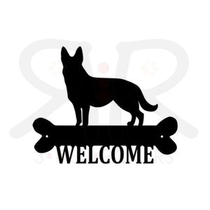 Dog Breed Metal Welcome Sign Home & Garden