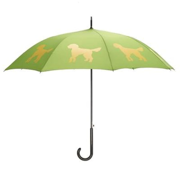 Doodle Yellow On Green Classic Umbrella