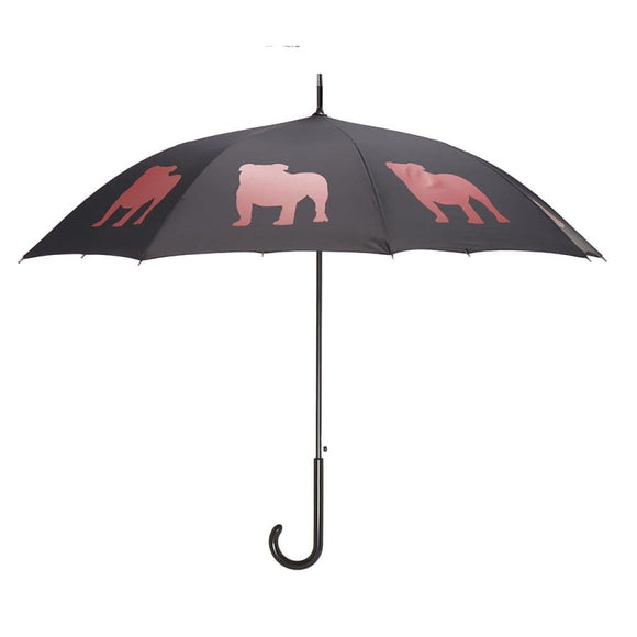 English Bulldog Red On Black Classic Umbrella