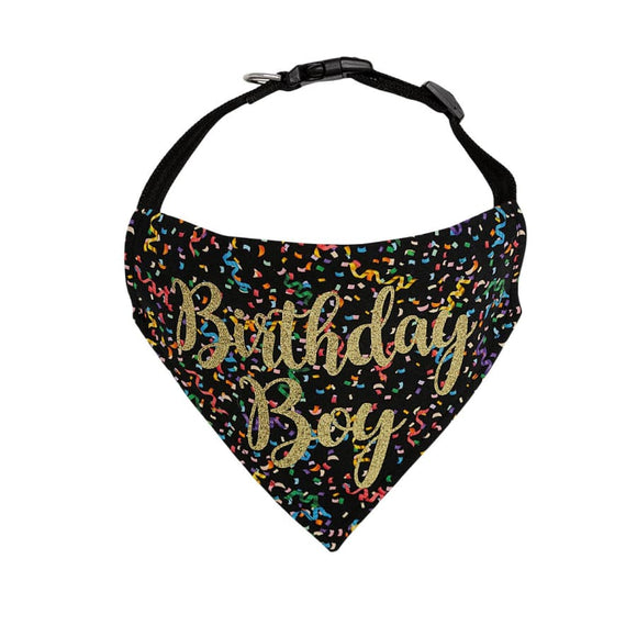 Glam Birthday Collar Bandanas Pet Bandana