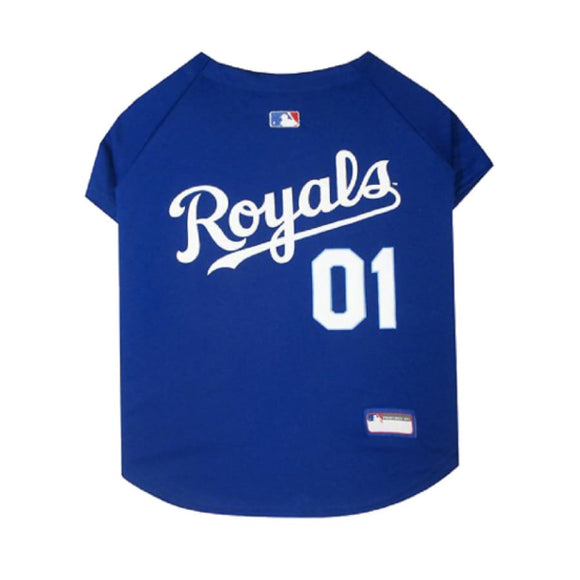 Kansas City Royals Pet Jersey Extra Small / Blank Mlb