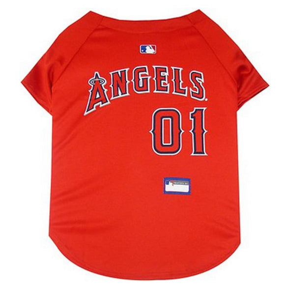 La Angels Pet Jersey Extra Small / Blank Mlb