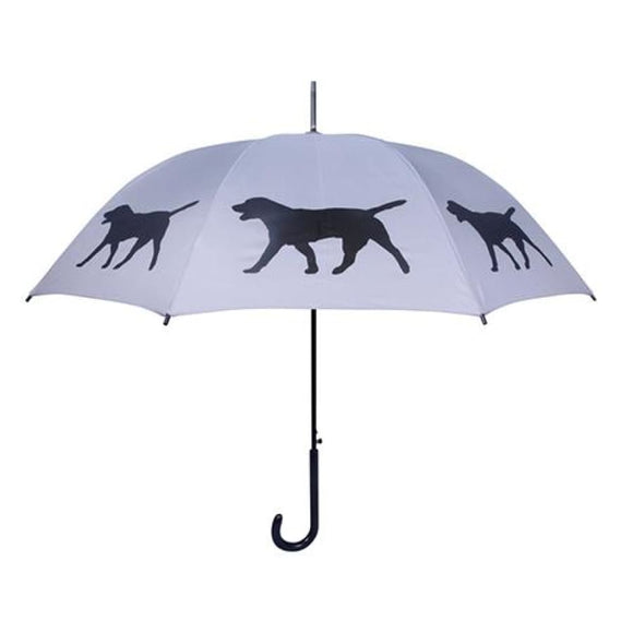 Labrador Retriever Black On Silver Classic Umbrella