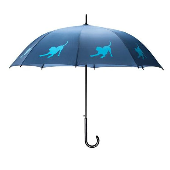 Labrador Retriever Blue On Navy Classic Umbrella