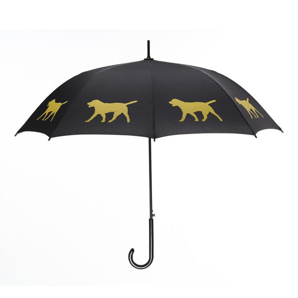 Labrador Yellow On Black Classic Umbrella