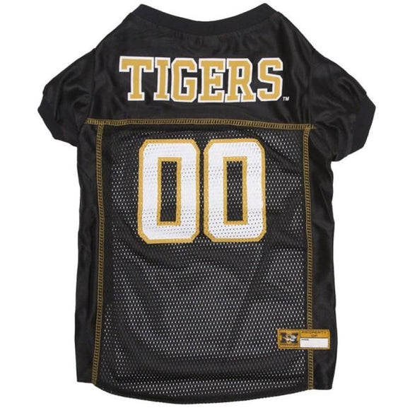 Mo Tigers Pet Jersey Extra Small / Blank Ncaa